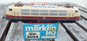Maerklin-3054-H0-TEE-Elektrolok-BR-103-113-7-Digital-analog-gebraucht-erhalten