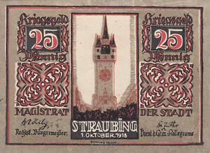 NOTGELDSCHEIN-STRAUBING-25-Pfg-1-10-1918-bis-1-1-1923