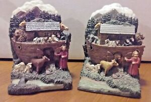 Book Ends - Noah's Ark Animals from Bible Old Testament | eBay
