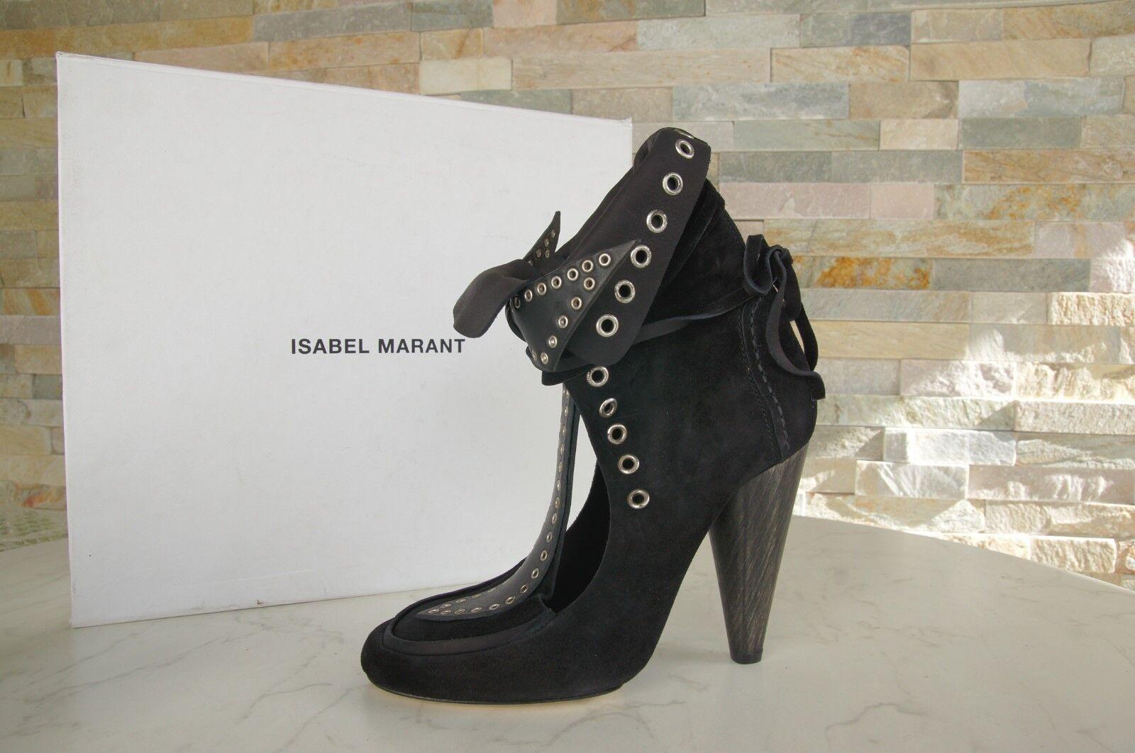 ISABEL MARANT 38 Stiefeletten Stiefelies Stiefel Schuhe schwarz neu ehem.