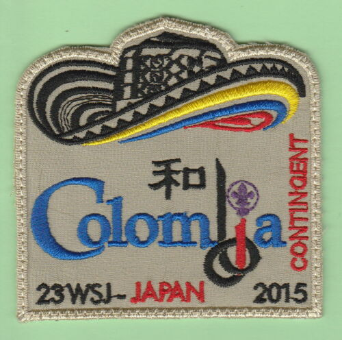 """ RARE"" 2015 world scout jamboree Japan COLOMBIA Contingent patch badge"