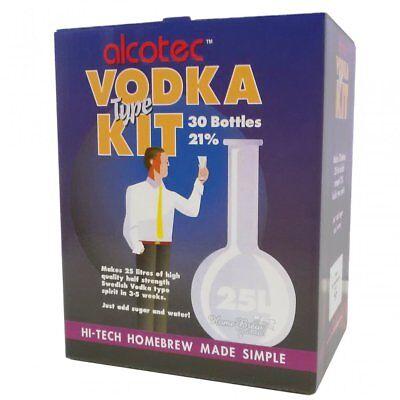 Alcotec Vodka Spirit Kit 25 Litres Home Brew Moonshine 20% Pure High Alcohol