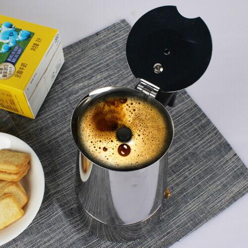 P//D Espressokocher Kaffeebereiter Pressfilterkanne Mokka Kaffeekocher Edelstahl