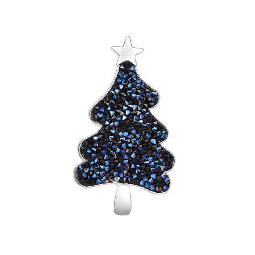 Cn /_ Femmes Strass Arbre de Noël Étoile Broche Revers Col Badge à Épingle Bijoux
