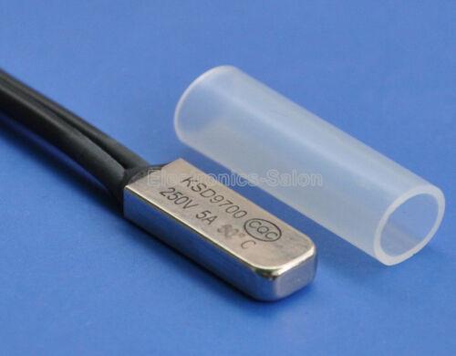 10pcs Thermostat température Interrupteur bilame Disque 80 ℃.