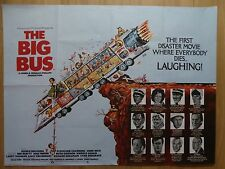 THE BIG BUS (1976) - original UK quad film/movie poster, comedy, Larry Hagman