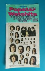 Popstar-Watchits-MUD-Letraset-Rub-down-Transfers-1975
