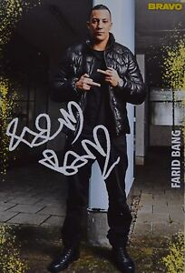FARID-BANG-Autogrammkarte-Autogramm-Fan-Sammlung-Clippings