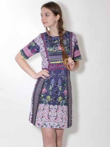 blau pink neu 20/% T Shirt Kleid Minikleid von Kooi Gr 38 Baumwolle
