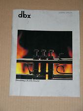 DBX vintage catalog (scan/copy): BX-3, CX-3, TX-3, BX-2, CX-2, DX-5/900, more...