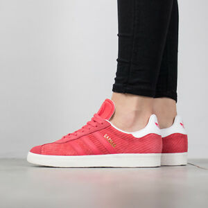 Details about Adidas Originals Gazelle Coral Pink Snakeskin Print GOLD White BB5174 Women sz 7