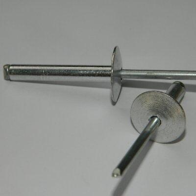 Sinnvoll 50 Blindnieten Mit Großem Kopf 4x12 K12 Alu/zugdorn Stahl Verzinkt Reine WeißE