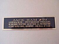 Jack Ham Steelers Nameplate For A Football Helmet Display Case 1.5 X 8