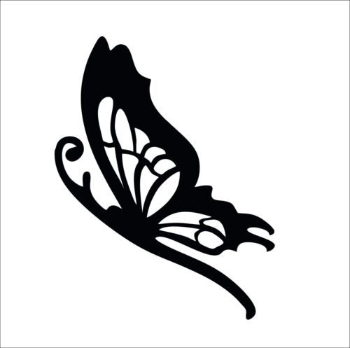Butterfly Side Vinyl Car Wall Decal Sticker in 12 Colours