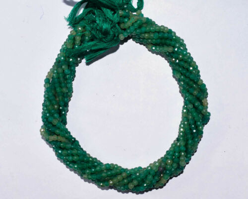"""Z-0632 Emerald Ropara Gemstone Natural Rondelle Faceted Beads 13/"""" 4mm 1 Strand"""