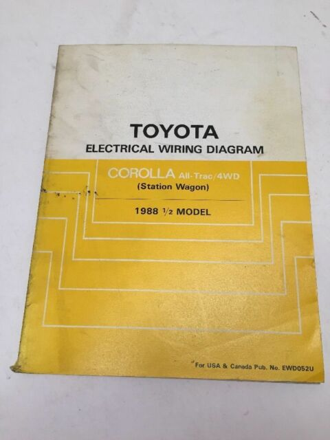 1988 1  2 Toyota Corolla St  Wagon Oem Factory Electrical
