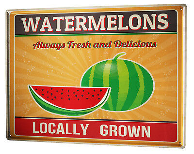 Haben Sie Einen Fragenden Verstand Blechschild Xxl Retro Wassermelone Verpackung Der Nominierten Marke