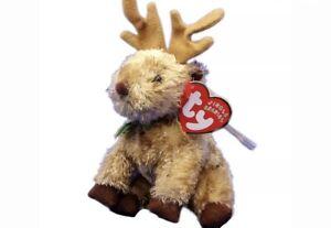Rare Ty Beanie Babies Jingle Beanies Rudy The Reindeer Ornament Christmas Plush