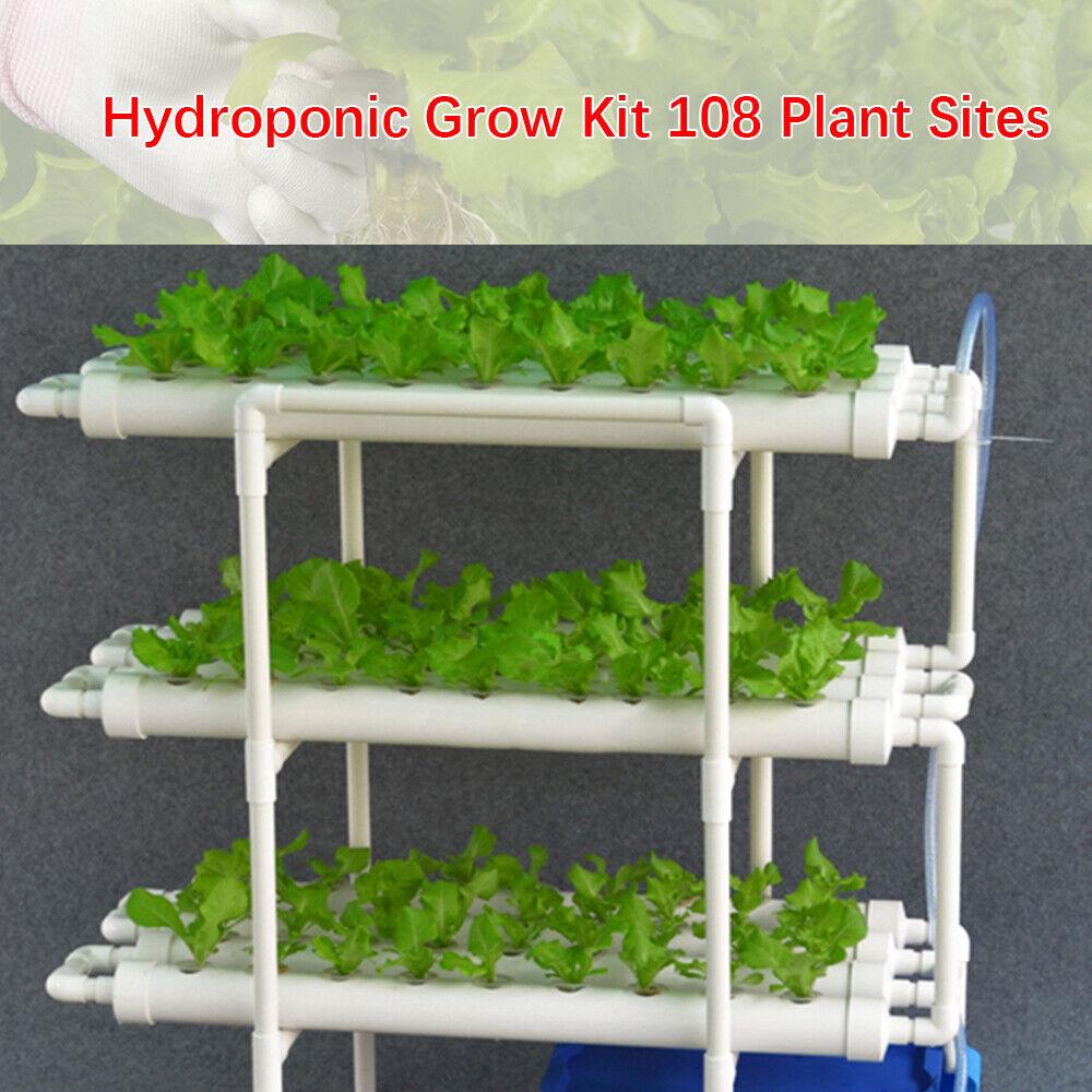 81 x27 x29cm hydroponic sistema grow kit 108 Plant sitios 3 capas Plant mejora