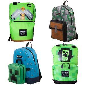 Official-Minecraft-Backpacks-Rucksacks-School-Bags-Various-Designs