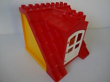 Lego Duplo - RED ROOF with Orange Walls & opening door - Ideal for House, Farm