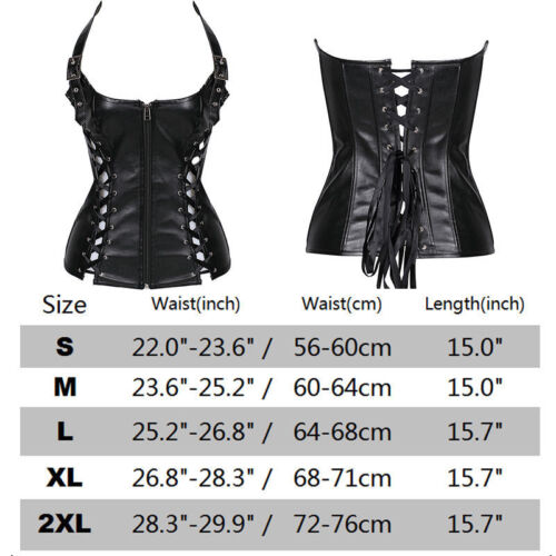 Bustier Black Steampunk Corset Waist Trainer Cincher Gothic Fancy Dress Plus Top