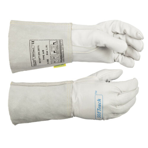 Very Soft TIG Welding Gloves ALL SIZES WELDAS SOFTouch Calfskin Leather