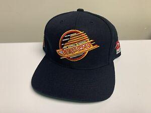 Vintage-Vancouver-Canucks-Sports-Specialties-Plain-Logo-Snapback-Hat-Cap-Black
