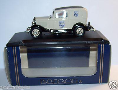 Inteligente Rara Eligor Ford V8 1962 Consegna Berlina Philips Grigio Chiaro 1/43 Rif. 1217 Materiale Selezionato