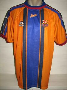 4fb2dbed5 Image is loading BARCELONA-1997-98-AWAY-SHIRT-KAPPA-JERSEY-SIZE-