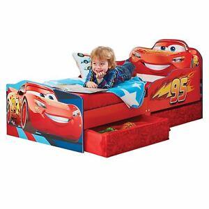 Officiel-Disney-Cars-Lightning-Mcqueen-Lit-Enfant-Bebe-avec-Rangement