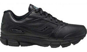 Saucony-Mens-Echelon-LE2-Wide-Black-Walking-Running-Leather-Shoes-Size-S25174-2