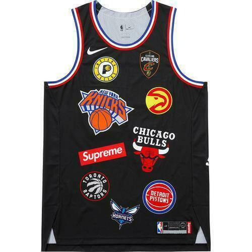 check out 4e9e9 eca4f Supreme 18s/s Nike NBA Teams Authentic Jersey Black M 1000 Authentic in  Hand for sale online | eBay