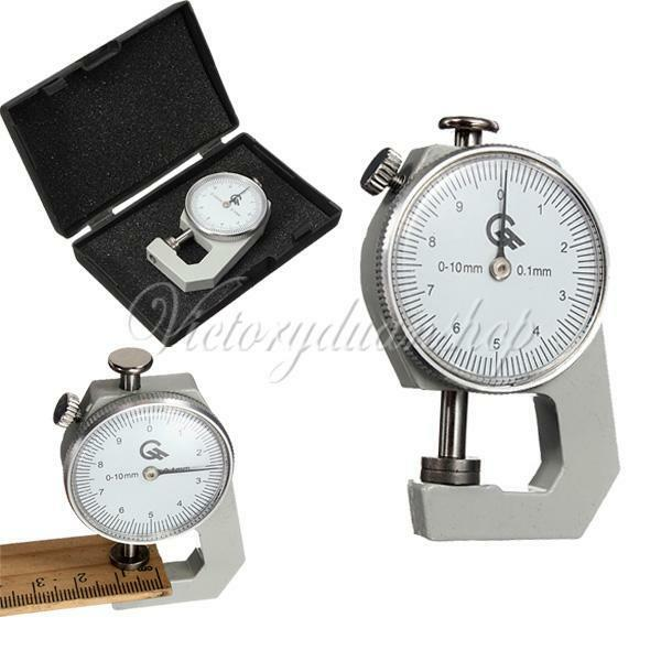 NEW 0-10mm Compact Pocket Round Dial Thickness Gauge Gage Measurement Tool 0.1mm