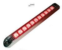 """1 Clear Lens Red 17"""" LED Light Bar Trailer Truck Stop Turn Tail w Chrome bezel"""