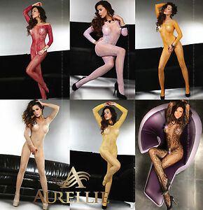Sexy-Long-Sleeved-Bodystocking-Abra-Colours-Variation-S-L-XXL-By-LivCo-Lingerie