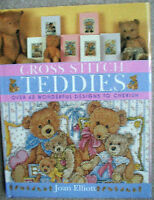 Pattern Book Counted Cross Stitch Baby Nursery Teddy Bear Alphabet Stocking