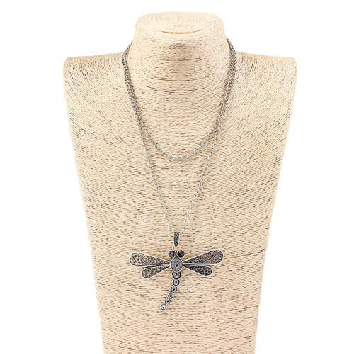 Bohemia Boho Style Large Metal Pendant Necklace 95cm Long Chain
