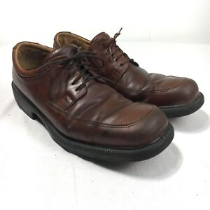 12.5 Brown Leather Casual Dress Lace Up