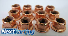 Brass K Nut for Kart Wheels - Pack of 12 - X30 - OTK - MAG RIMS Top Quality Nuts