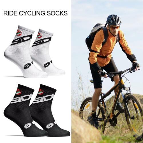 Men Socks Cycling Breathable Socks Sports New Black Bikes Outdoor White Road