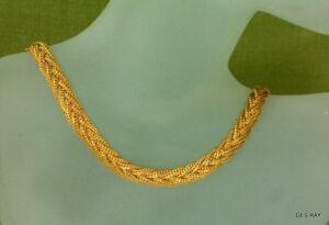 1f60d291ce1ba Details about Vintage Napier Twist Snake Chain Necklace Gold Haute Couture  Runway Gold plated