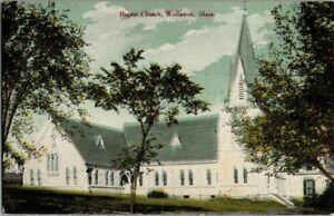 1910-WOLLASTON-MASS-BAPTIST-CHURCH-POSTCARD-KK2