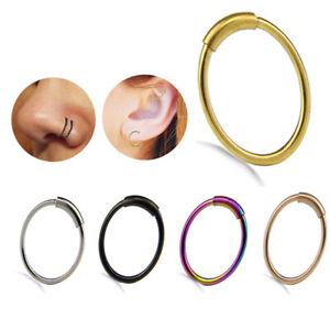 Fake Septum Clicker Crystal Nasenring nicht Piercing Hanger Clip auf Schmuc Gw