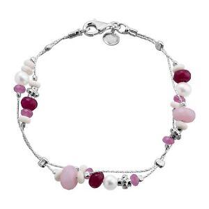Silpada-039-Terracotta-039-Natural-Jade-Riverstone-amp-Freshwater-Pearl-Chain-Bracelet