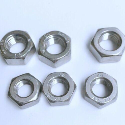 Hexagonal Acier Inoxydable Écrous va DIN 934 a2 avec tenacité m8 à 16 mère