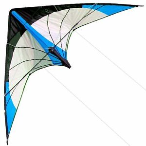 Free-Shipping-New-48-Inch-Dual-Line-Stunt-Kites-Blue-Kite-Outdoor-Fun-Sports