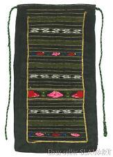 ANTIQUE Bulgarian folk costume apron hand-woven wool ethnic floral peasant art