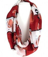 Red and White Football Infinity Scarf