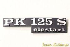 """VESPA Emblem Schriftzug - """"PK 125 S elestart"""" - PK125S Seitenhaube Seitendeckel"""